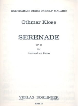 Othmar Klose - Serenade op. 13 - Partition - di-arezzo.co.uk
