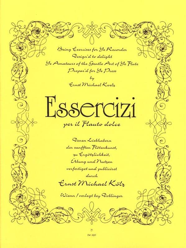 Essercizi per il flauto dolce - Ernst Kölz - laflutedepan.com