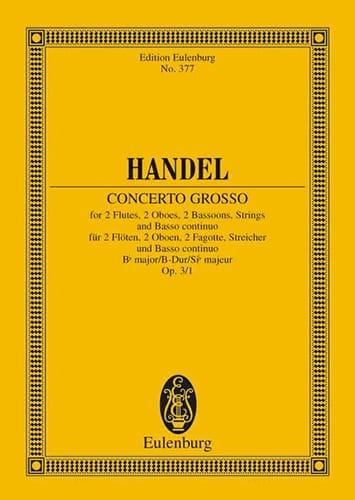 Concerto grosso B-Dur - HAENDEL - Partition - laflutedepan.com