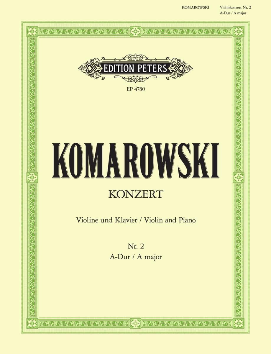 Concerto n° 2 pour violon - Anatoli Komarowski - laflutedepan.com