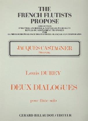 Deux dialogues op. 114 - Louis Durey - Partition - laflutedepan.com