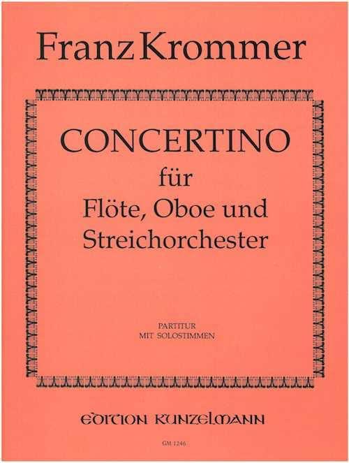 Franz Krommer - Concertino - Solostimmen Partitur - Partition - di-arezzo.com