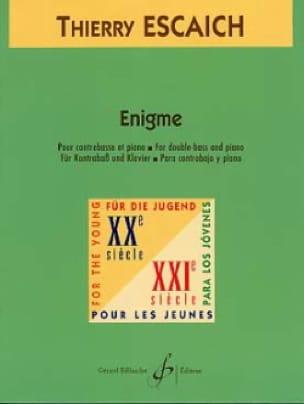 Enigme - Thierry Escaich - Partition - Contrebasse - laflutedepan.com