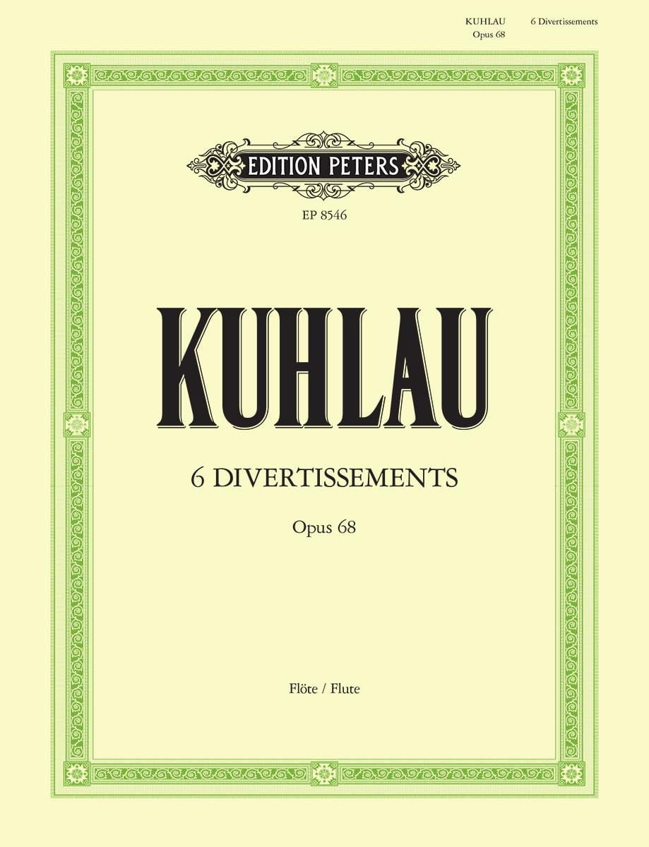 Friedrich Kuhlau - 6 Entertainment Op. 68 - Partition - di-arezzo.co.uk