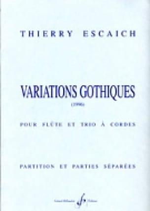 Variations gothiques -Partition + parties - laflutedepan.com