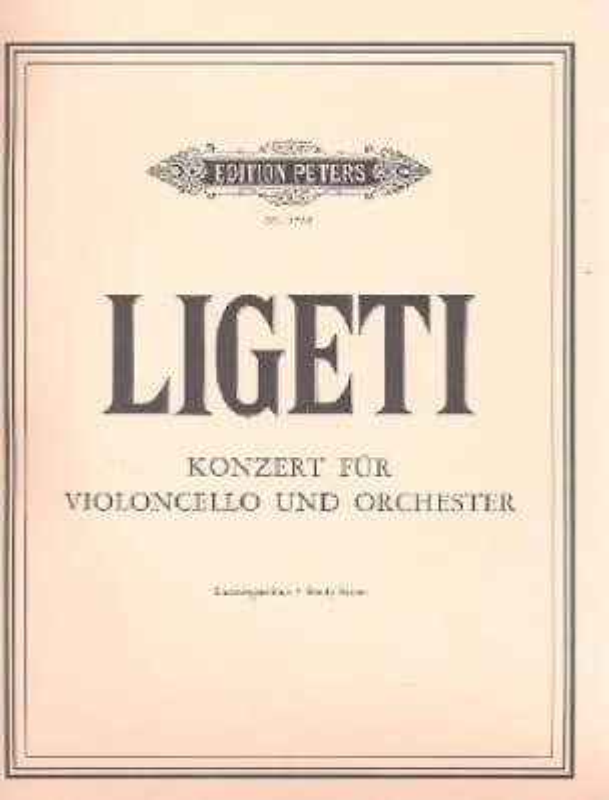 György Ligeti - Konzert für Violoncello und Orchester - Partitur - Partition - di-arezzo.fr