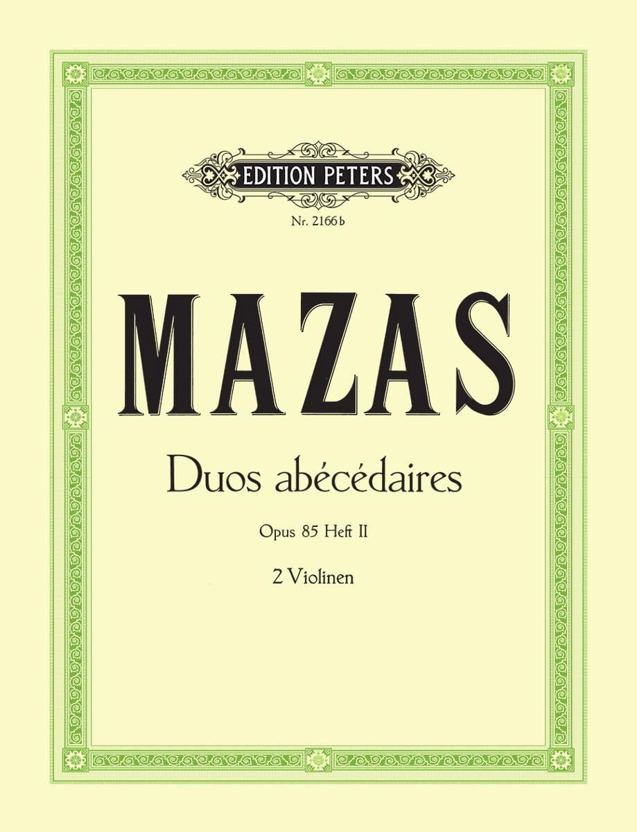 MAZAS - Abecedary Duets op. 85 notebook 2 - Partition - di-arezzo.co.uk