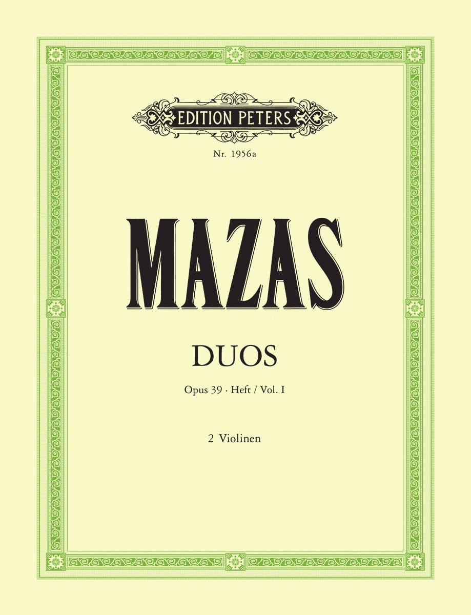 MAZAS - Duette op. 39 - Bd. 1 - Partition - di-arezzo.co.uk