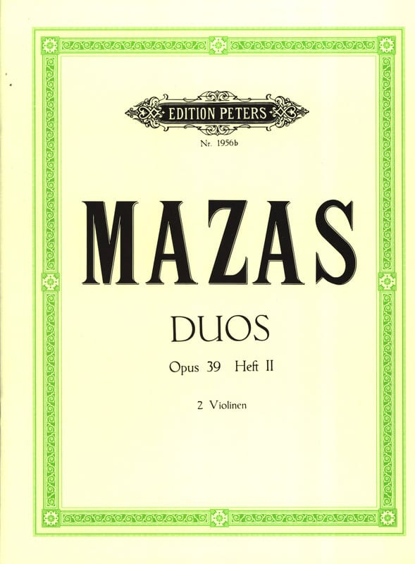 MAZAS - Duos op. 39 - Bd. 2 - Partition - di-arezzo.co.uk