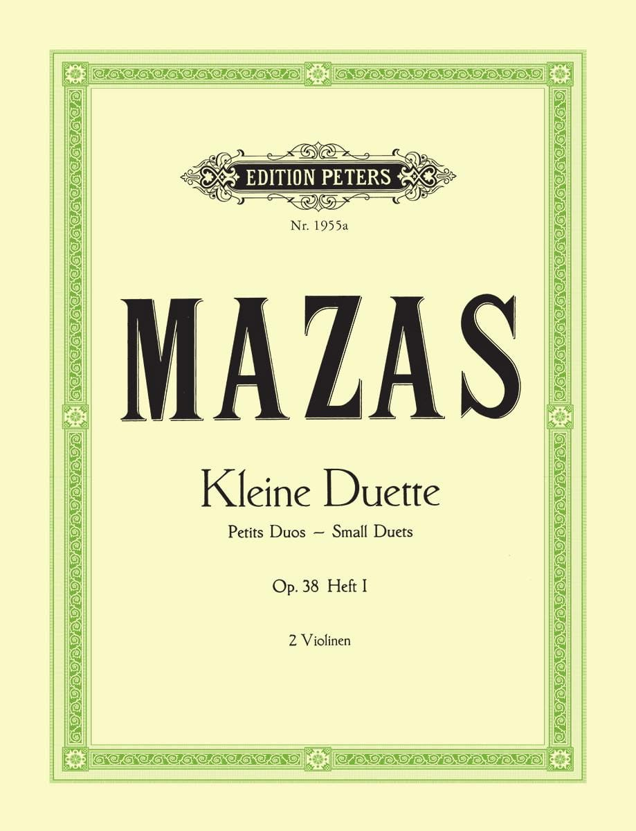 MAZAS - Kleine Duette Op.38 Bd.1 Small Duets - Partition - di-arezzo.co.uk