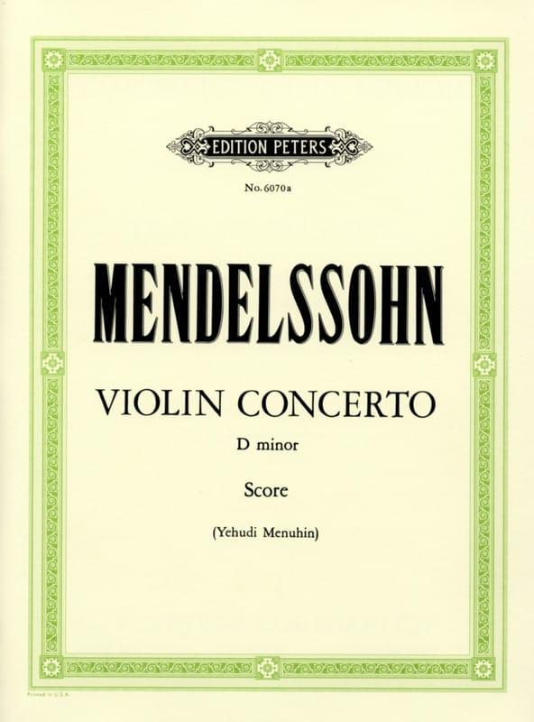 MENDELSSOHN - Concierto para violín D menor Menuhin-conductor - Partition - di-arezzo.es