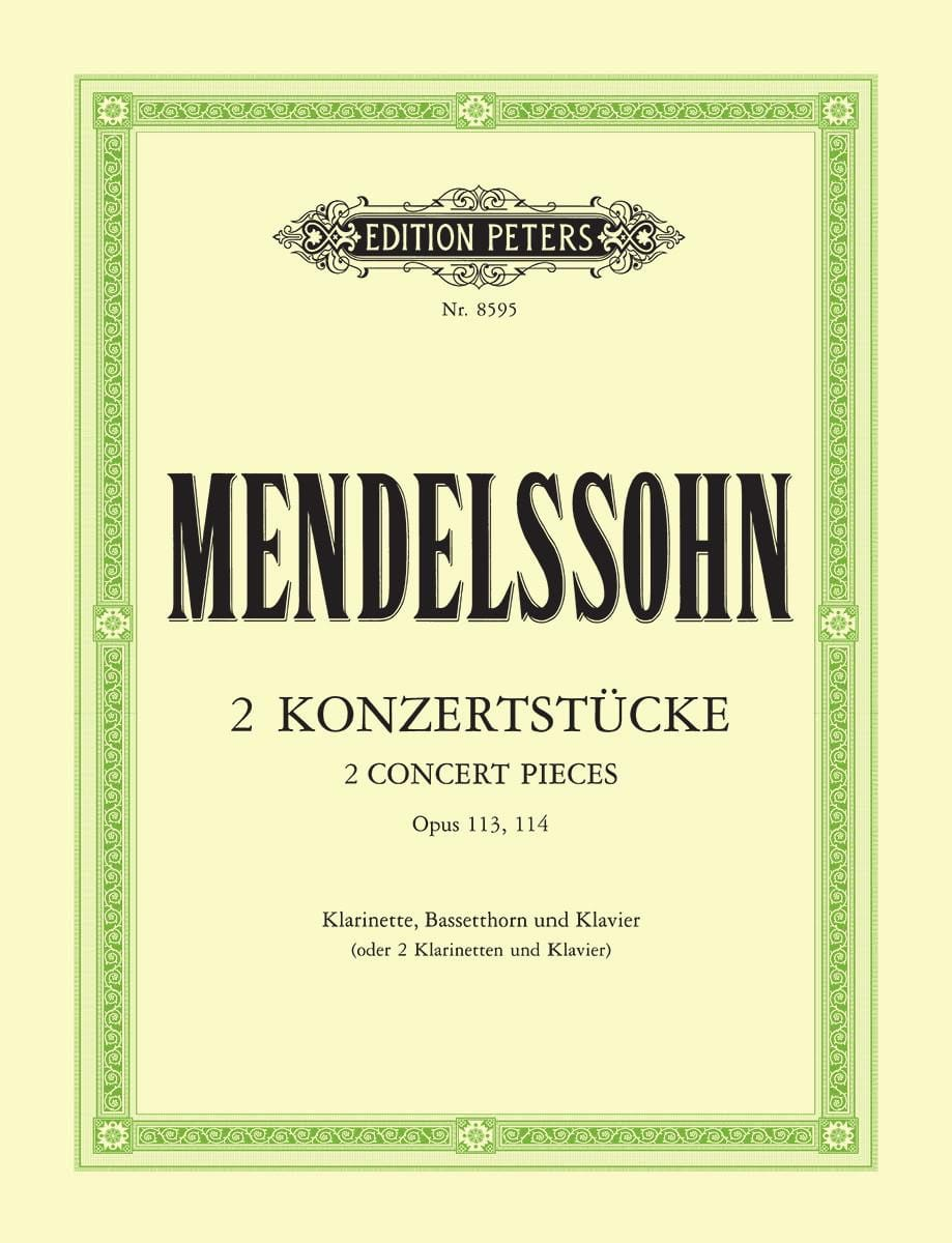 2 Konzertstücke op. 113/114 - Klarinette Bassetthorn Klavier - laflutedepan.com