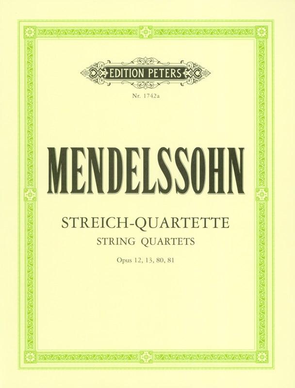 MENDELSSOHN - Streichquartette op. 12, 13, 80, 81 - Stimmen - Partition - di-arezzo.co.uk