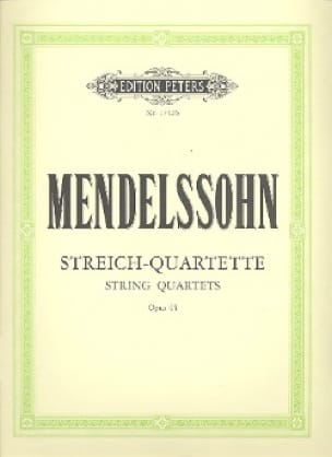 MENDELSSOHN - Streichquartette op. 44 - Stimmen - Partition - di-arezzo.co.uk