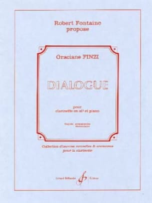 Dialogue - Graciane Finzi - Partition - Clarinette - laflutedepan.com