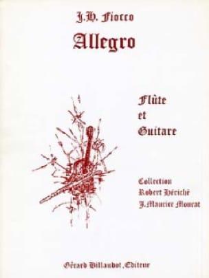 Allegro - Joseph Hector Fiocco - Partition - Duos - laflutedepan.com
