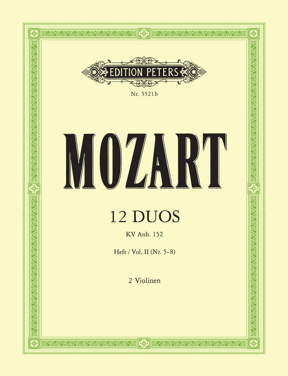 MOZART - 12 Duos KV Anh. 152, Volume 2 - Partition - di-arezzo.co.uk