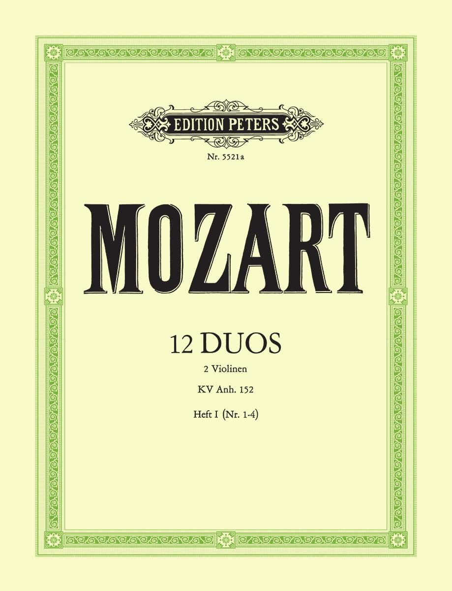MOZART - 12 Duos Kv Anh. 152 Volume 1 - Partition - di-arezzo.co.uk