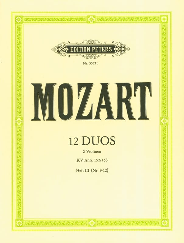 MOZART - 12 Duos KV Anh. 152/153, Volume 3 - Partition - di-arezzo.co.uk