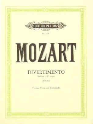 Divertimento Es-Dur KV 563 -Violine Viola Cello - Stimmen - laflutedepan.com