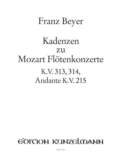 Kadenzen zu Flötenkonzerten und Andante - Flöte solo - laflutedepan.com
