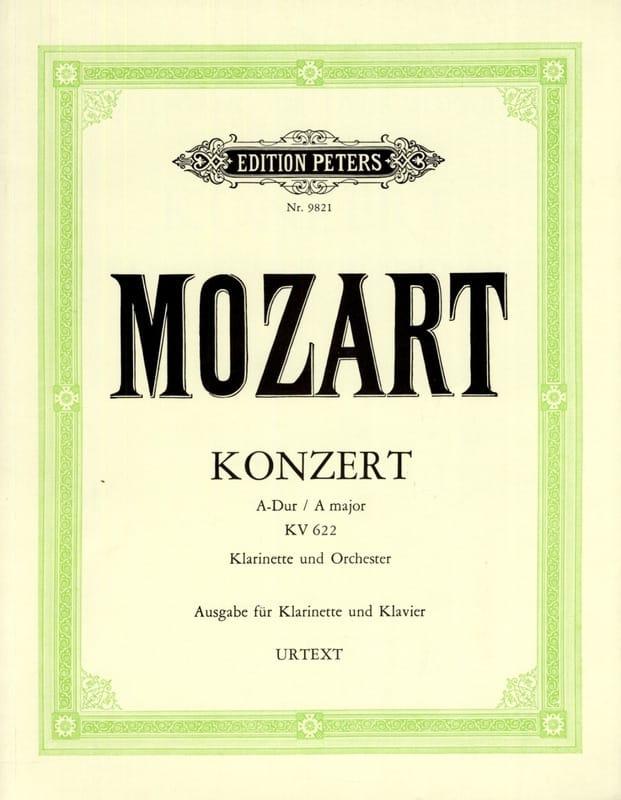 Konzert A-dur KV 622 - A-Klarinette Klavier - laflutedepan.com