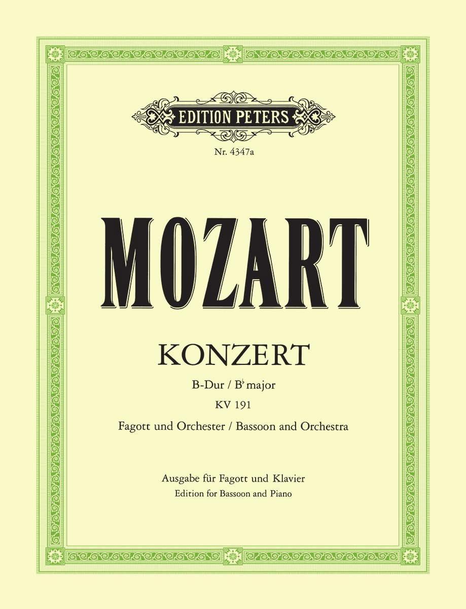 MOZART - Fagottkonzert B-Dur KV 191 - Fagott Klavier - Partition - di-arezzo.es