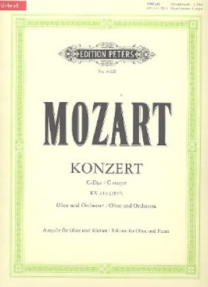 MOZART - Konzert D-Dur for Oboe KV 314 - Oboe Klavier - Partition - di-arezzo.co.uk