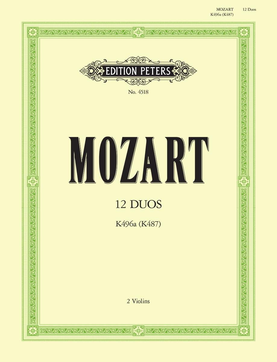 MOZART - 12 Duos KV 496a KV 487 - Partition - di-arezzo.co.uk