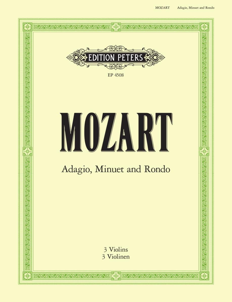 MOZART - Adagio, Menuet and Rondo - Partition - di-arezzo.co.uk