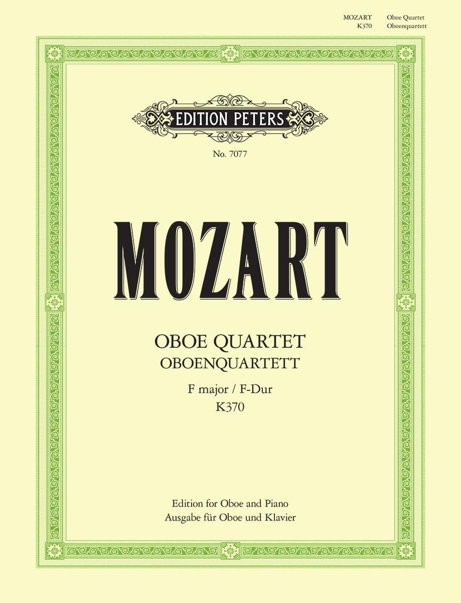 MOZART - Oboe Quartet K.370 in F Major - Partition - di-arezzo.com