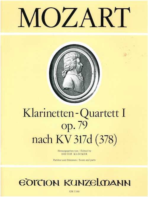 MOZART - Klarinettenquartett Nr. 1 op. 79 - Partitur Stimmen - Partition - di-arezzo.co.uk