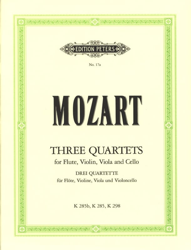 MOZART - 3 Quartet - Flute Violine Viola Violoncello - Partition - di-arezzo.co.uk