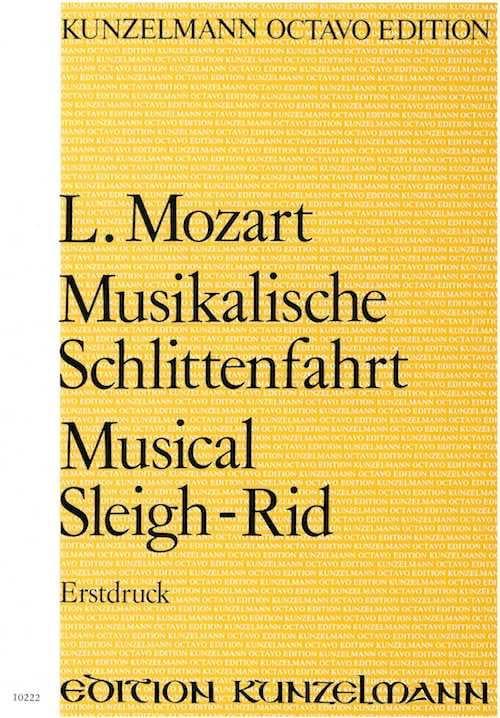 Leopold Mozart - Musikalische Schlittenfahrt - Partitur - Partition - di-arezzo.fr