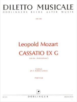 Cassatio ex G - Partitur - Leopold Mozart - laflutedepan.com