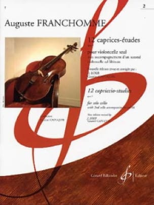 Auguste Franchomme - 12 Caprices-Etudes Opus 7 Volume 2 studies n ° 7 to 12 - Partition - di-arezzo.co.uk