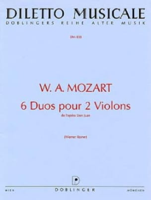 MOZART - 6 Duets for 2 violins - Partition - di-arezzo.co.uk