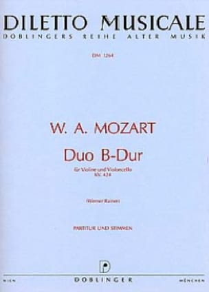 MOZART - Duo B-hard KV. 424 - Partition - di-arezzo.co.uk