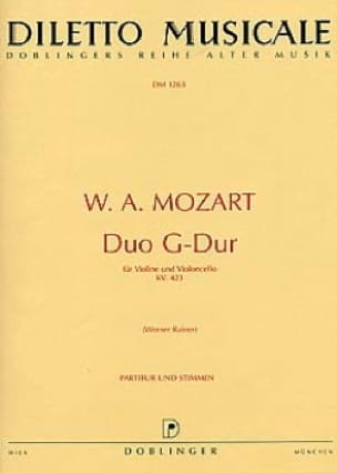 MOZART - Duo G-Dur KV. 423 - Violine violoncello - Partition - di-arezzo.co.uk