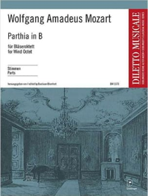 Parthia Kv 361 - Octuor à Vents Parties - MOZART - laflutedepan.com