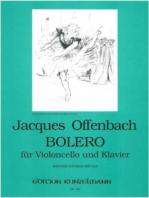 Bolero - OFFENBACH - Partition - Violoncelle - laflutedepan.com