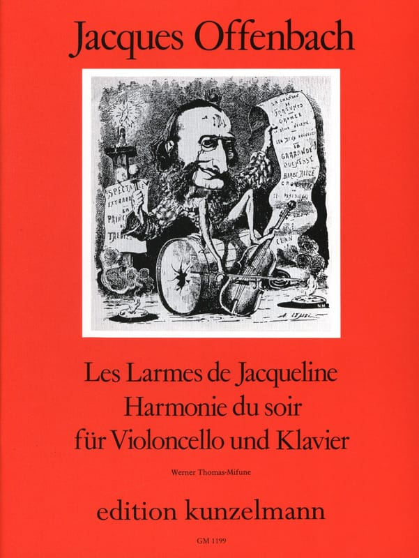 Jacques Offenbach - Tears of Jacqueline op. 76 n ° 2 / Evening Harmony - Partition - di-arezzo.co.uk