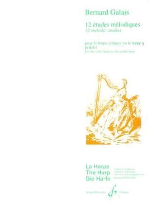 12 Etudes mélodiques - Bernard Galais - Partition - laflutedepan.com
