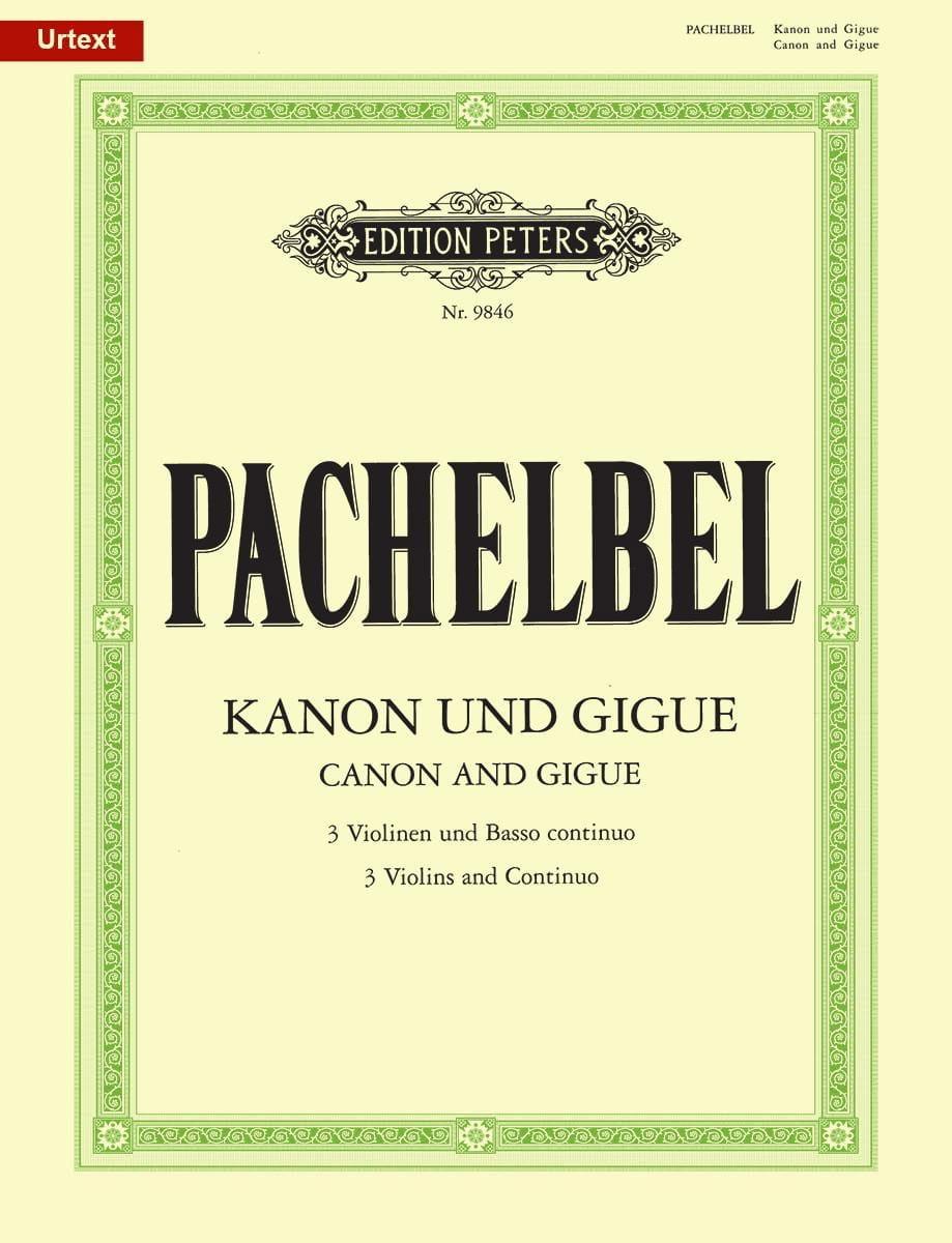 Kanon und Gigue -Trois violons et basse continue - laflutedepan.com