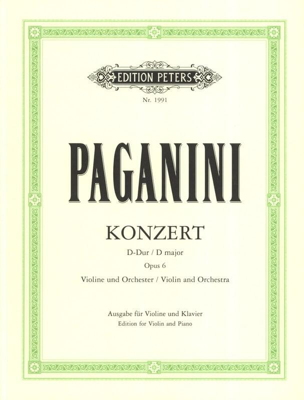 Konzert D-Dur , op. 6 - PAGANINI - Partition - laflutedepan.com