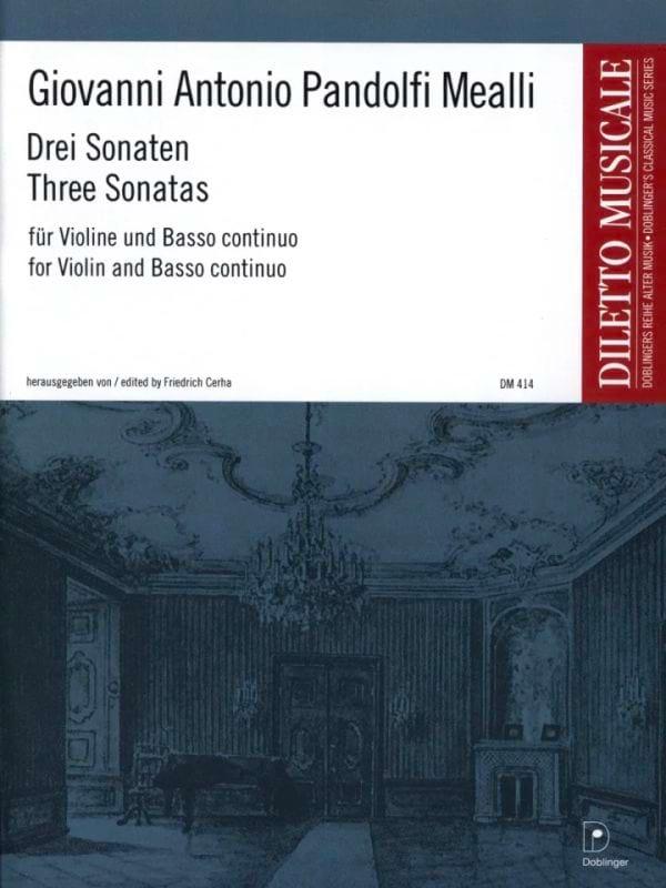 Mealli Giovanni Antonio Pandolfi - 3 Sonatas - Partition - di-arezzo.com