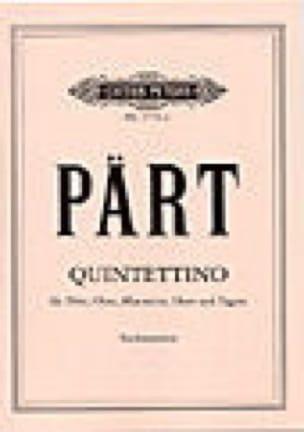 Quintettino - Stimmen - PÄRT - Partition - laflutedepan.com