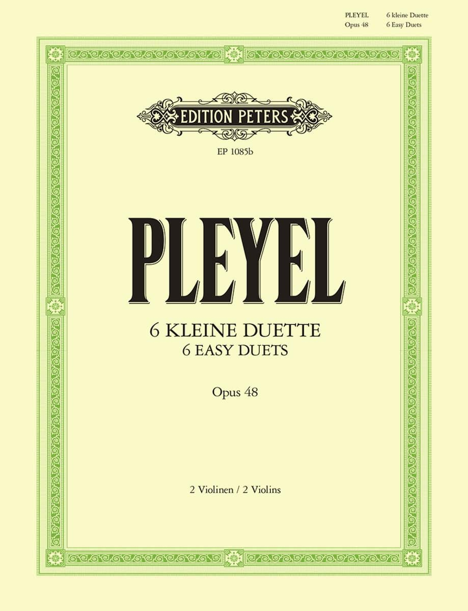 6 Duos op. 48 - Ignaz Pleyel - Partition - Violon - laflutedepan.com