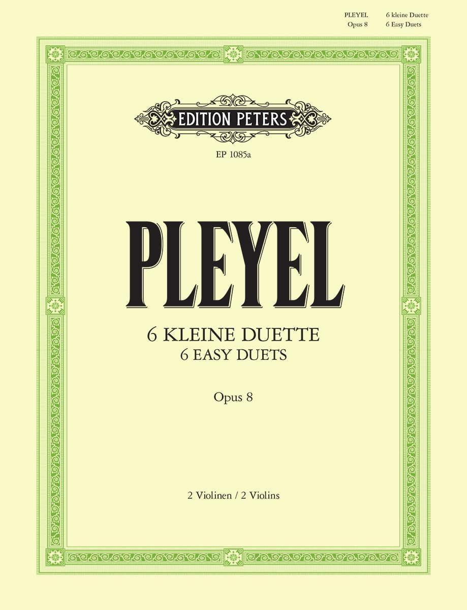 6 kleine Duette op. 8 - Ignaz Pleyel - Partition - laflutedepan.com