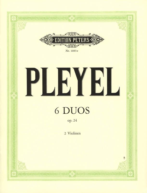 6 Duos op. 24 - Ignaz Pleyel - Partition - Violon - laflutedepan.com